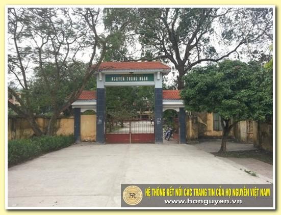 Ngôi trường mang tên danh nhân Nguyễn Trung Ngạn ở Ân Thi